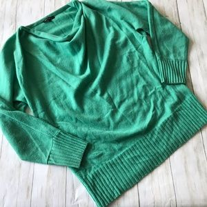 Lafayette 148 Green Cashmere Sweater